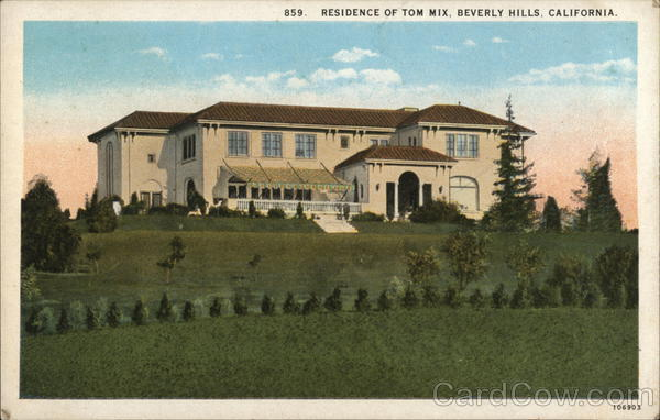 Residence of Tom Mix Beverly Hills California