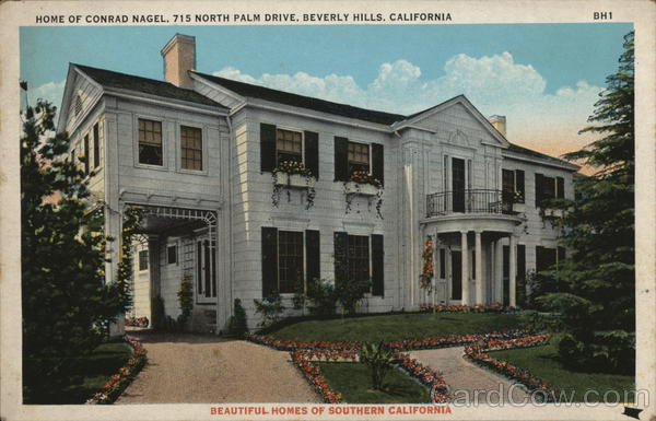 Home of Conrad Nagel, 715 North Palm Drive Beverly Hills California