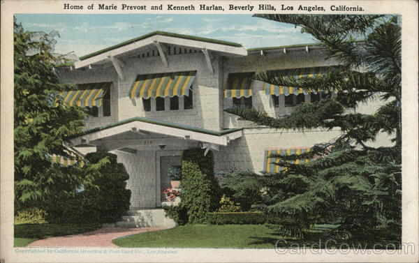 Home of Marie Prevost and Kenneth Harlan, Beverly Hills Los Angeles California