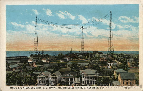 Bird's-Eye View Showing U.S. Naval and Wireless Station Key West Florida