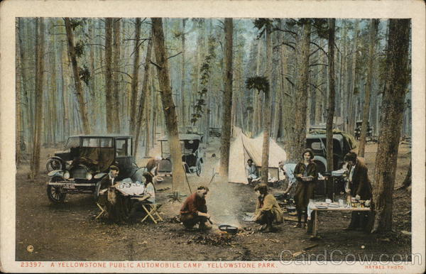 A Yellowstone Public Automobile Camp, Yellowstone Park