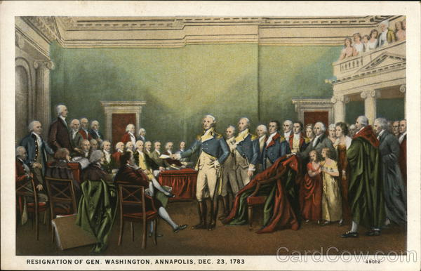 Resignation of Gen. Washington, Annapolis, Dec. 23, 1783 Maryland