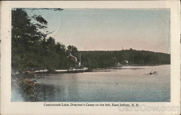 Contoocook Lake, Drayton's Camp on Left East Jaffrey New Hampshire