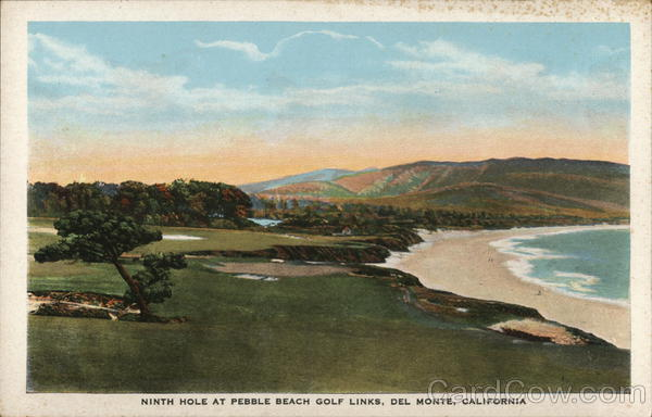 Ninth Hole at Pebble Beach Golf Links Del Monte California