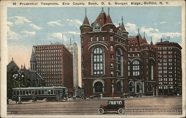 Prudential Telephone, Erie County Bank, D. S. Morgan Bldgs. Buffalo New York