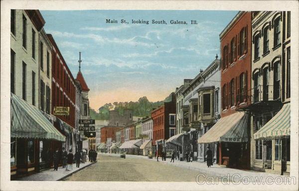 Main Street Looking South Galena Illinois