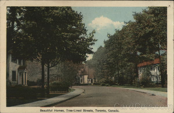 Beautiful Homes, Tree-Lined Streets Toronto Canada