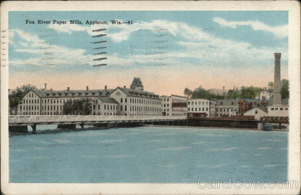 Fox River Paper Mills Appleton Wisconsin