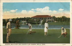 Mineral Wells Golf and Country Club Postcard