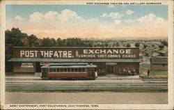 Post Exchange Theatre and Artillery Barracks Postcard
