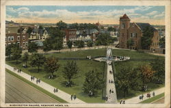 Bird's Eye View of Washington Square Postcard