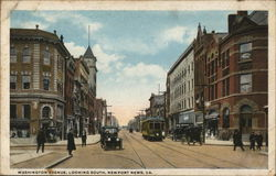 Washington Avenue looking South Postcard