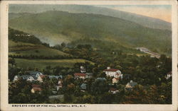 Bird's Eye View of Pine Hill, Catskill Mountains