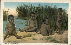 Alligator Bait - Black Children Playing by River