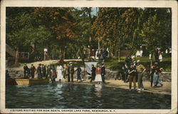 Visitors waiting for Row Boats, Orange Lake Park