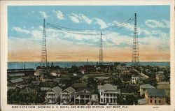 Bird's-Eye View Showing U.S. Naval and Wireless Station