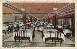 Portion of Famous Hotel Rosslyn Dining Room, Corner Fifth and Madison Streets