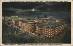 Factories of B. F. Goodrich at Night