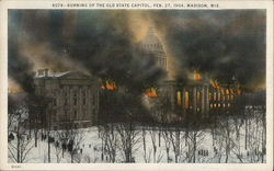 Burning of the Old State Capitol - February 27, 1904