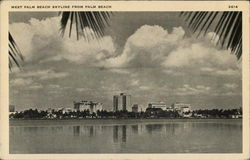 West Palm Beach Skyline from Palm Beach