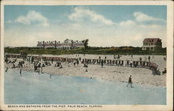 Beach and Bathers from the Pier