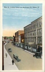 Main Street Looking North from Washington Street Postcard