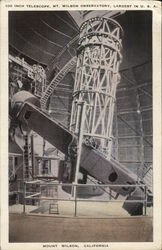 100 Inch Telescope, Mt. Wilson Observatory - Largest in U.S.A.