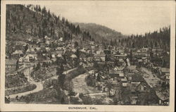 Wide View of Town Nestled Among Trees