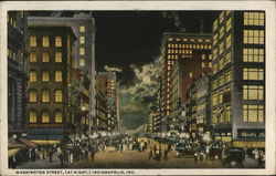 Washington Street at Night