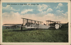Army Aeroplanes at Camp Kelly