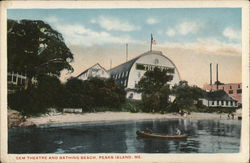 Gem Theatre and Bathing Beach Postcard