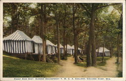 Front Row East, Summer Encampment Y. M. C. A. College Camp