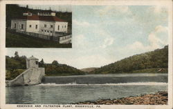 Reservoir and Filtration Plant Postcard