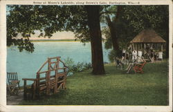 Scene at Moore's Lakeside, along Brown's Lake