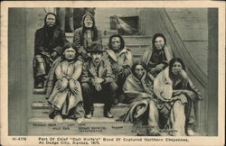 Part of Chief Dull Knife's Band of Captured Northern Cheyennes