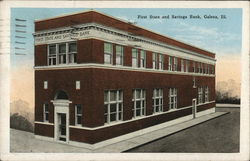 First State and Savings Bank Postcard
