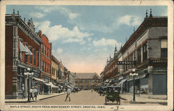 Maple Street, South from Montgomery Street Postcard