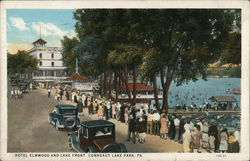 Hotel Elmwood and Lake Front, Conneaut Lake Park