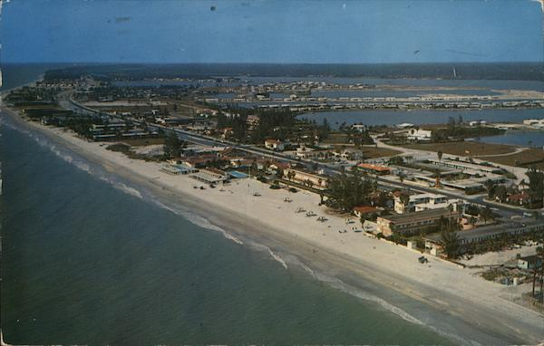Air-View showing one of the many beaches along the Gulf Coast Redington Beach Florida
