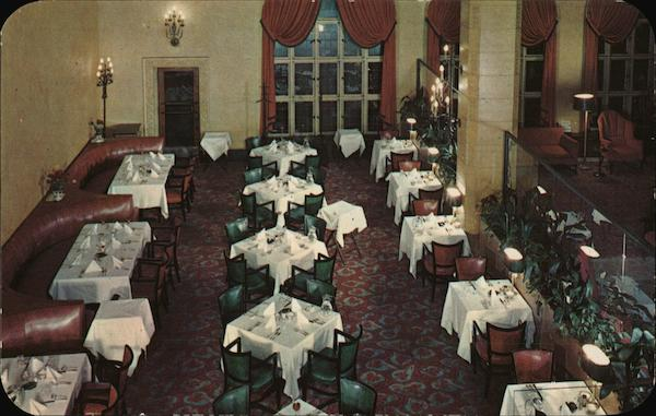 View of Lobby Dining Room at the Albert Pike Hotel Little Rock Arkansas