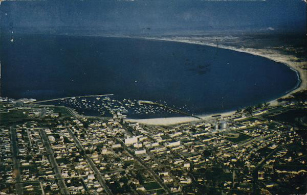 Aerial View of City and Bay Monterey California
