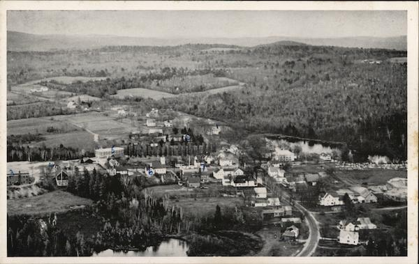 Aerial View of Town Looking East Lee Maine
