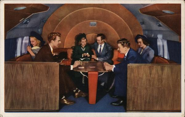 Sky Lounge In a DC-6 Deltaliner Aircraft