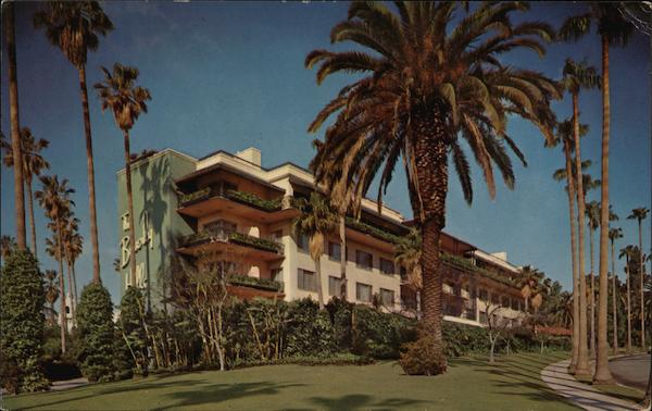 The Beverly Hills Hotel and Bungalows, Sunset Boulevard California