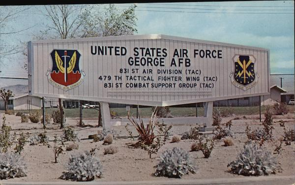 United States Air Force George AFB - Entrance Sign Victorville California