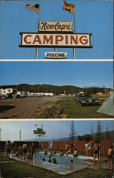 Edmundston (NB) Canada  city photos gallery : New Capri Camping Edmundston, NB Canada Postcard