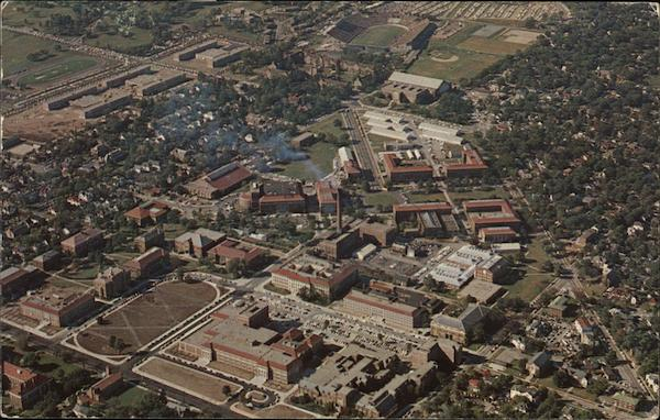 Purdue University Campus - Aerial View Lafayette Indiana