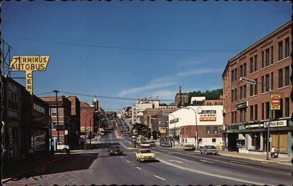 King Street Looking West Sherbrooke Canada Quebec