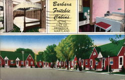 Barbara Fritchie Cabins Postcard