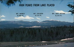 High Peaks from Lake Placid